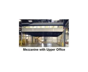 Mezzanine with upper office