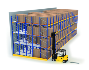 push back pallet racks