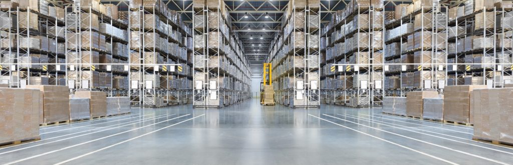 Huge Warehouse with Pallet Racks